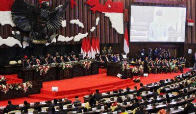 SP/Ruht Semiono Sidang Tahunan MPR DPR DPD RI 2019 - Suasana Sidang Tahunan MPR DPR DPD RI 2019, di Jakarta, Jumat (16/8/2019). Rangkaian sidang tahunan tersebut terdiri dari tiga agenda yakni Sidang Tahunan MPR, SidangBersama DPR-DPD RI, dan Sidang penyampaian RAPBN Tahun 2020.